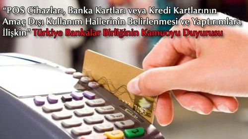 Türkiye Bankalar Birliğinin Kamuoyu Duyurusu