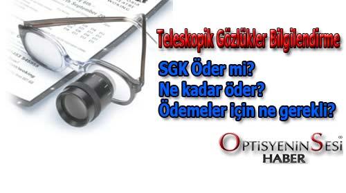 SGK, Teleskopik gözlük ödemesi ne kadardır?