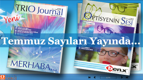 Sektörün yeni dergisi…