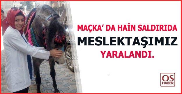 Trabzon'da ki hain saldırıda bir optisyen yaralandı.