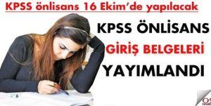 KPSS Giriş Belgesi Yayınlandı.