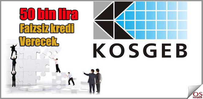 KOSGEB Sıfır Faizli İşletme Kredisi