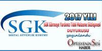2017 yılı SGK Optik Sözleşmesi