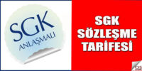 2017 SGK Sözleşme Bedeli Açıklandı.