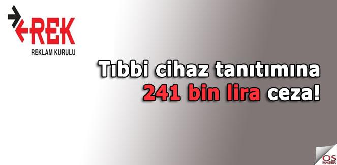 Tıbbi cihaz tanıtımına 241 bin lira ceza!