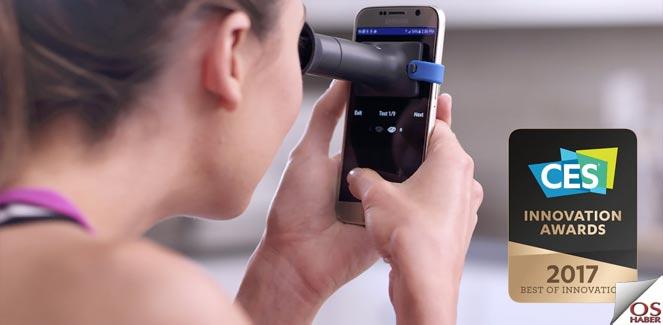 Göz bozukluğunu akıllı telefonla ölçebilen donanım