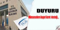 SGK Asgari ücret desteği