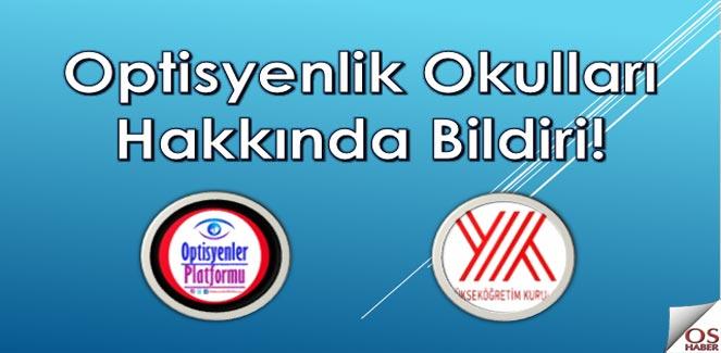 Optisyenlik Okulları Hakkında Bildiri!