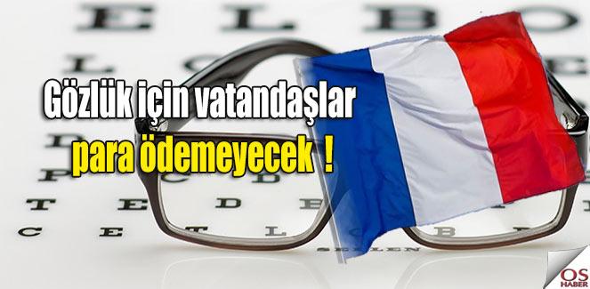 Fransa'da hükümetten müjde; Gözlük için vatandaşlar para ödemeyecek!