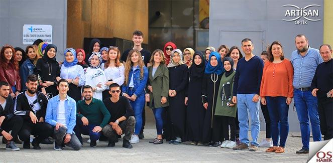 """Amasya Üniversitesi Öğrencileri'nin """"Artisan Optik"""" Ziyareti"""