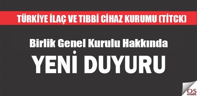 Türk Optisyen-Gözlükçüler Odaları ve Birliği İlk Genel Kurulu Hakkında 2.Duyuru