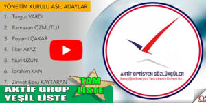 Aktif Grup seçime aday listesini paylaştı