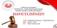 İstanbul Odası Genel Kurul Çağrısı