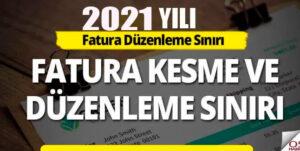 2021 Yılı Yazar Kasa Fiş Kesme Sınırı